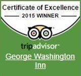 George Washington Inn - Trip Advisor Certificate of Excellence Winner 2015