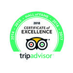 Plaque Certificate of Excellence TripAdvisor.com