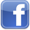 smooth glossy facebook logo - blue f