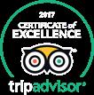 Badge Award - 2017 Certificate of Excellence TripAdvisor