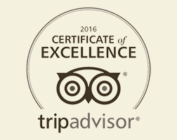 Badge Award - Trip Advisor Certificate of Excellence 2016!