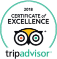 trip advisor logo - certificate of excellence 2018
