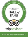 TripAdvisor 2015 Hall of Fame Award