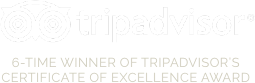6 Time Winner of TripAdvisor Certificate of Excellence Awards