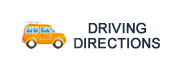 Yellow Car illustration with text - Driving Directions