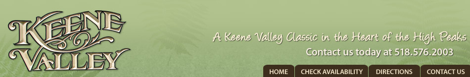Keene Valley Lodge Bed and Breakfast Located in the High Peaks of the Adirondacks