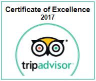 Pilgrims Inn TripAdvisor Certificate of Excellence 2016