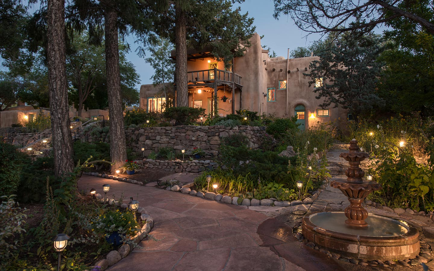 Santa Fe Bed and Breakfast at Dusk