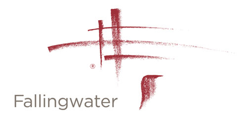 Logo for Frank Lloyd Wright Falling Water.